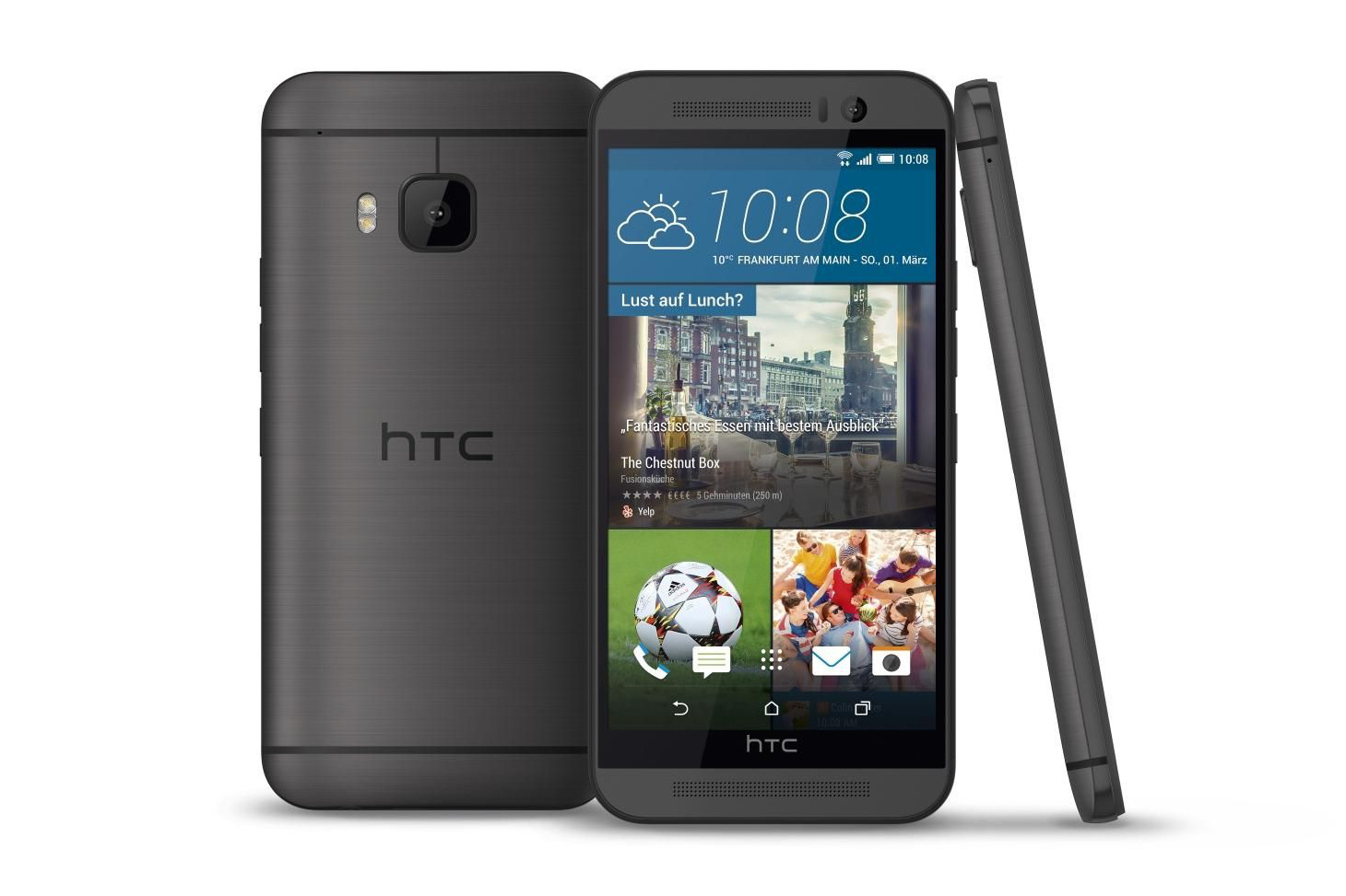 HTC One M9 gun-metal gray