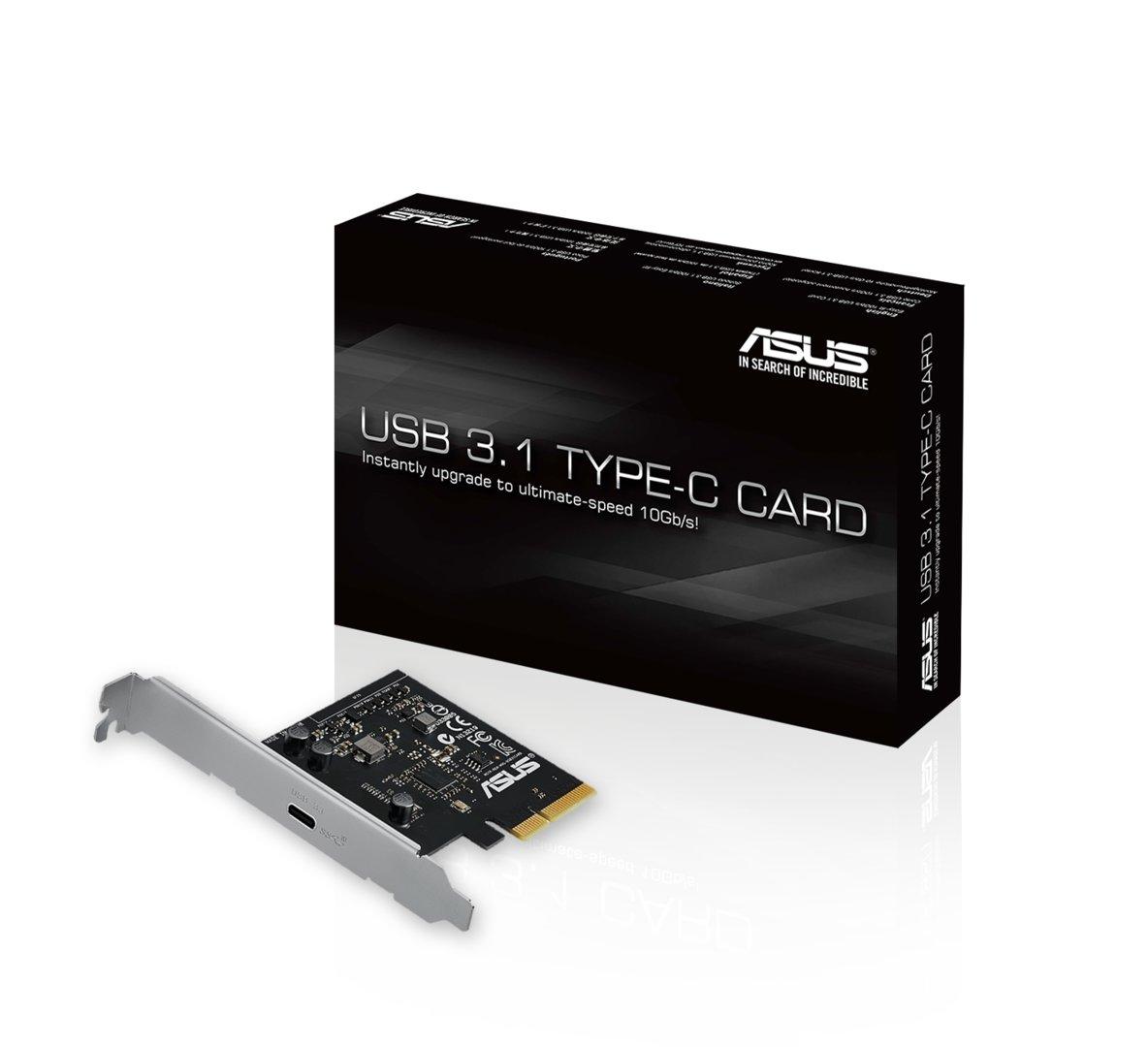 Erweiterungskarte mit ein Mal USB 3.1 nach Typ C