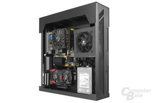 Lian Li PC-O6S – Testsystem seitlich