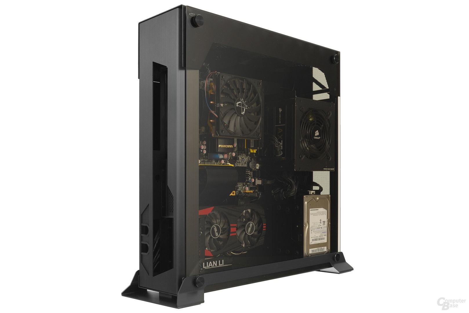 Lian Li PC-O6S – Testsystem mit Sichtfenster
