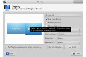 Xfce4 Display Settings