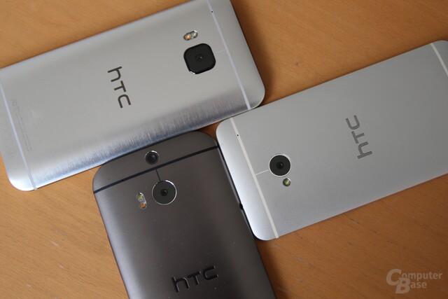 HTC One M9 (oben), One (M8) (unten) und die Urversion