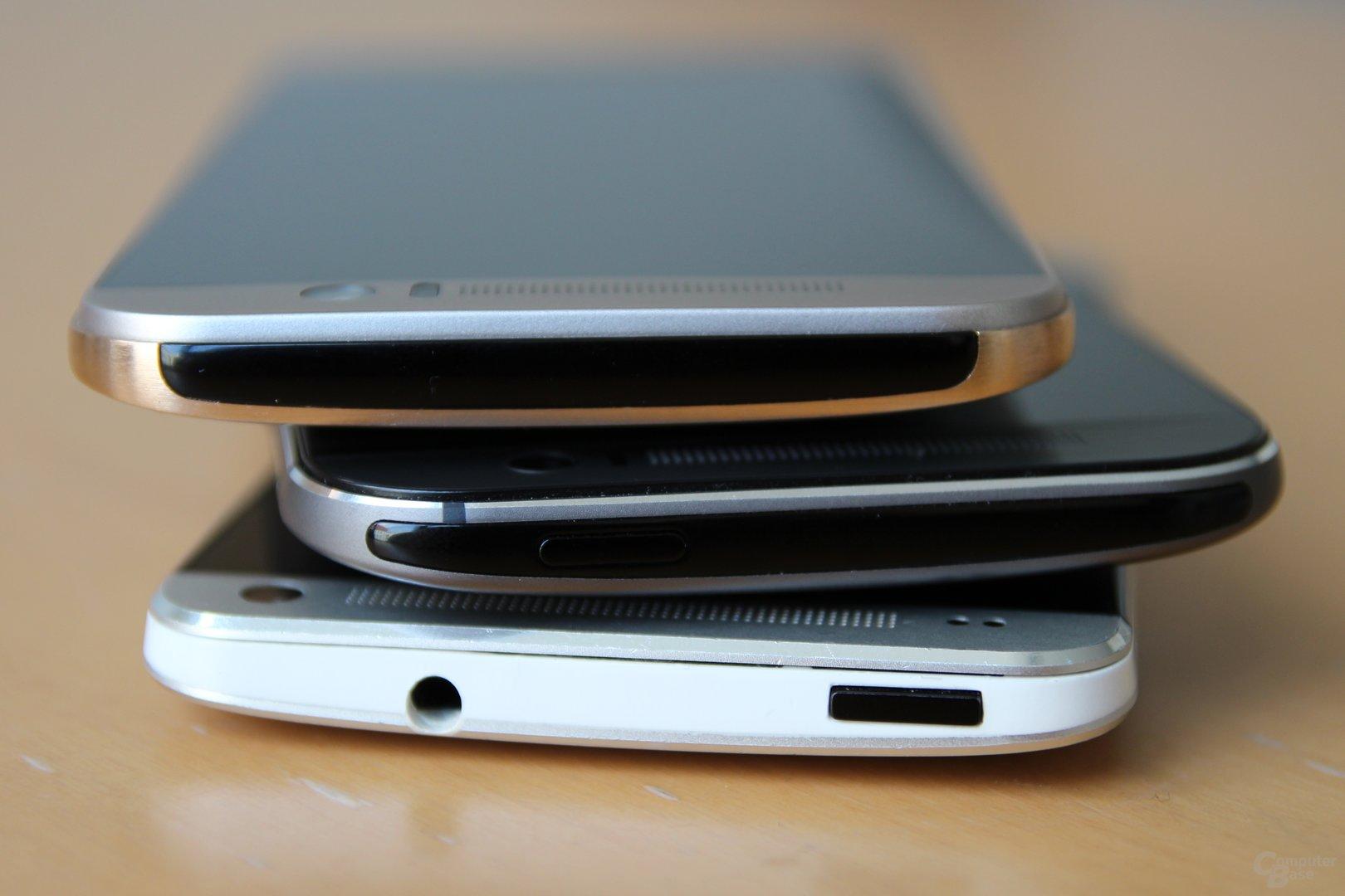 v.o.n.u.: HTC One M9, One (M8) und One