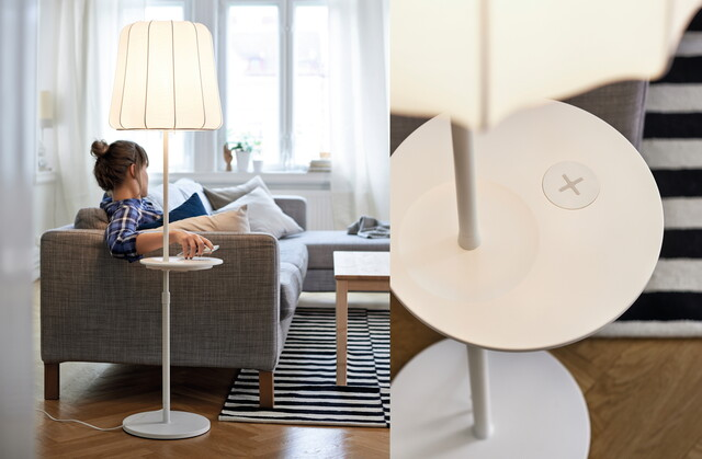 Ikea Design-Kollektion mit kabelloser Ladefunktion