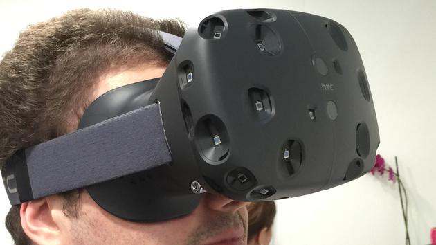 Virtual Reality: VR-Brille von HTC und Valve aus der Nähe betrachtet