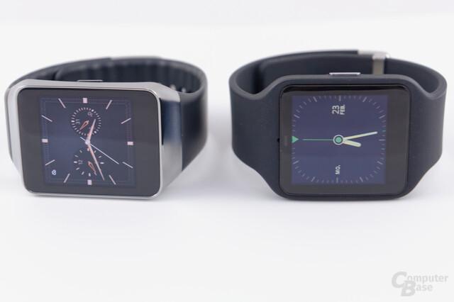 Samsung Gear Live und Sony Smartwatch 3 im Vergleich