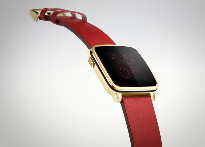 Pebble Time Steel – Gold
