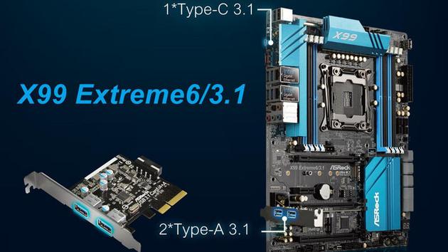 ASRock: Drei neue X99-Boards mit USB 3.1 und OC-Sockel