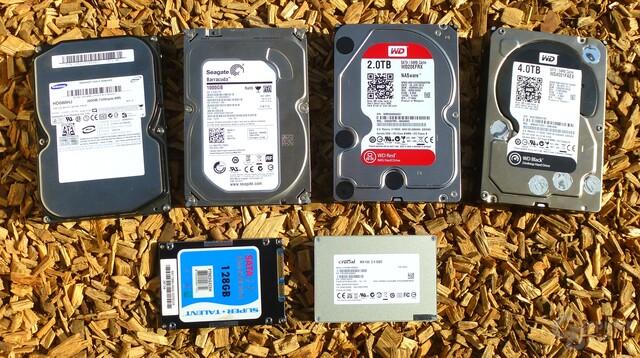 Vier HDDs gegen zwei SSDs