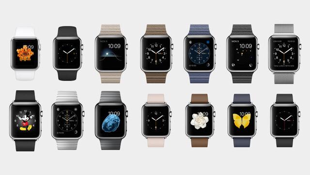 Verschiedene Armbänder der Apple Watch