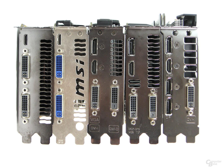 Nvidia GeForce GTX 460 bis 960 – Displayausgänge
