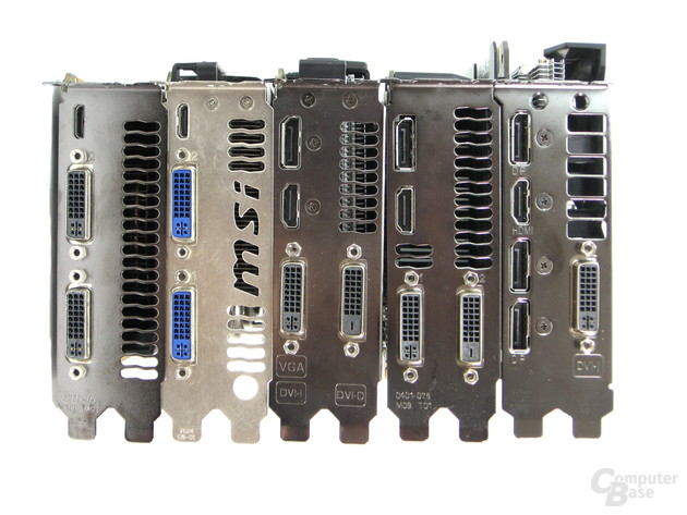 Nvidia GeForce GTX 460 bis 960 – Displayausgänge