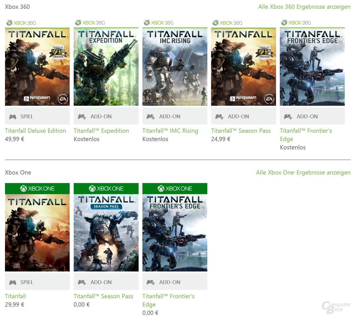 Aktuell sind Titanfall-DLCs für beide Konsolen kostenfrei erhältlich
