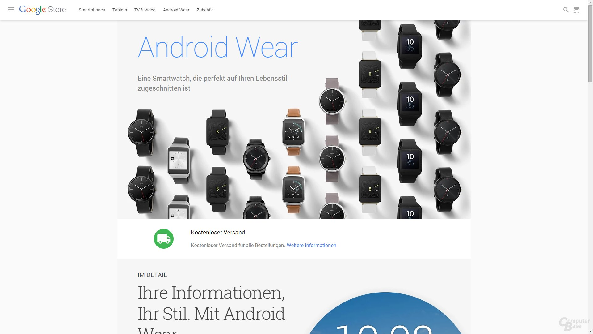 Google Store – Android Wear