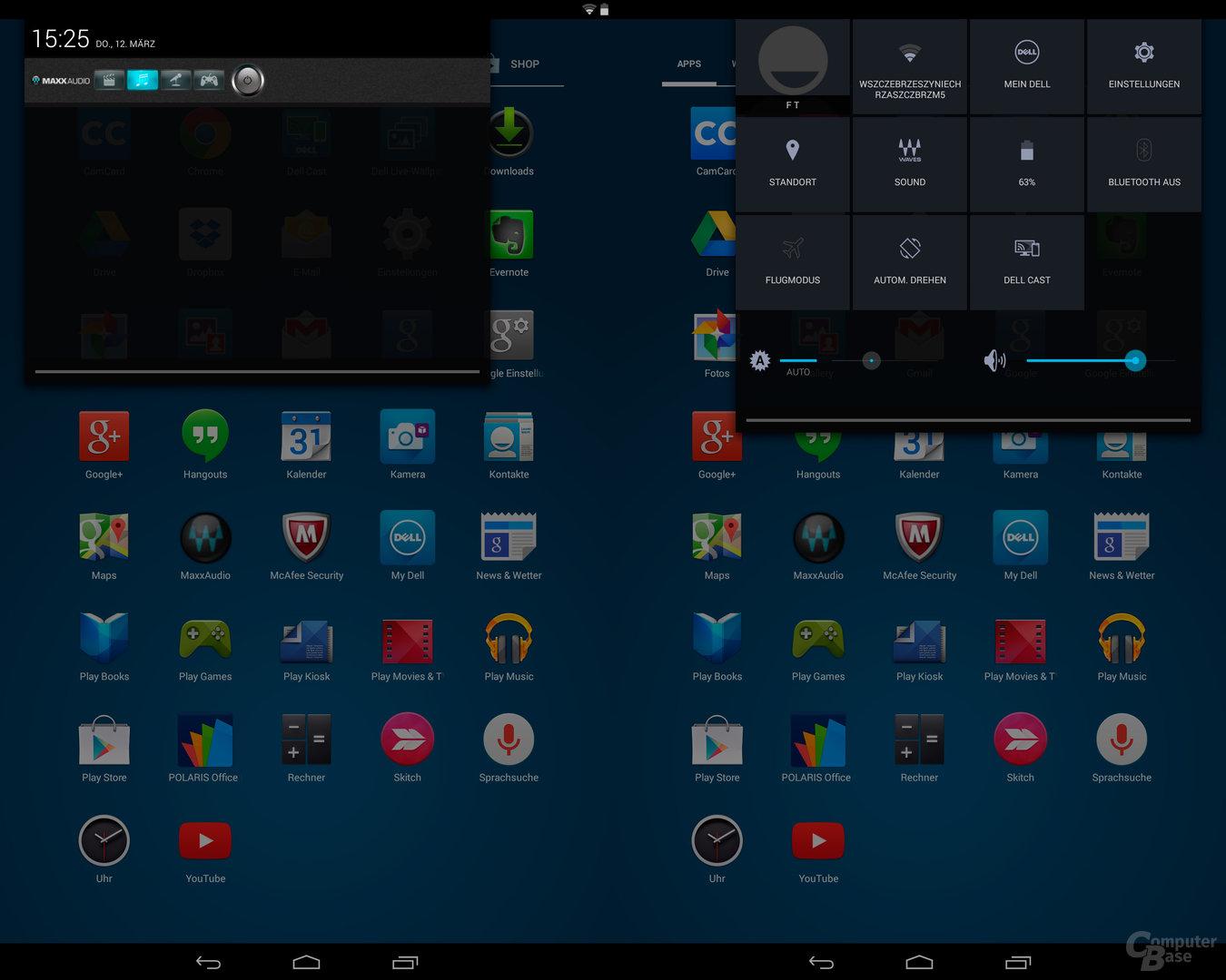 Dell Venue 8 – Quicksettings