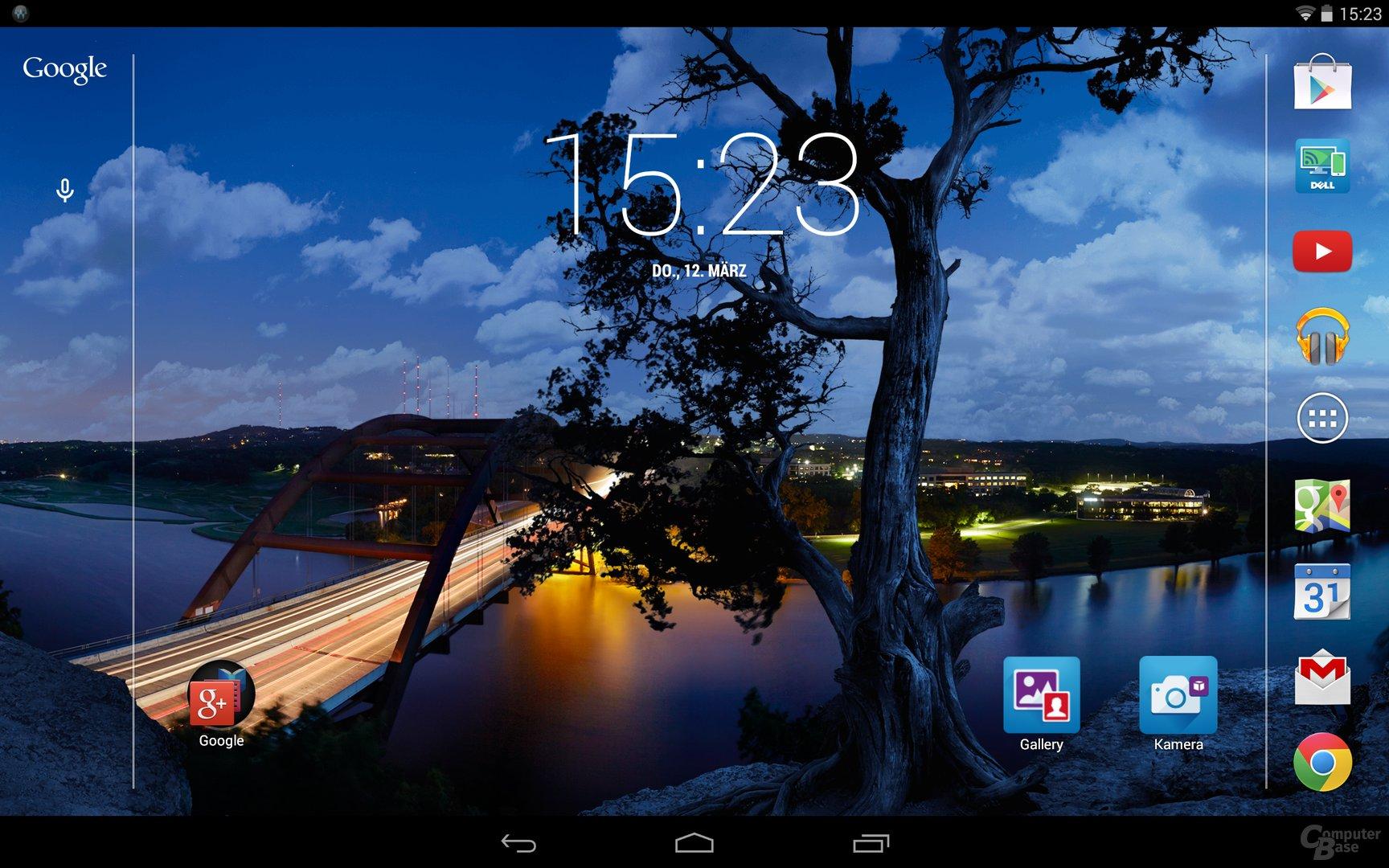 Dell Venue 8 – Homescreen