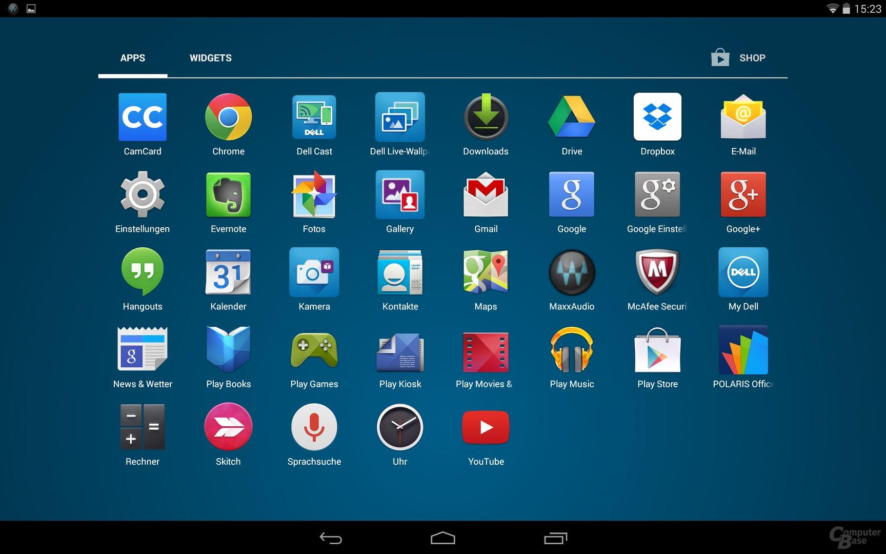 Dell Venue 8 – App-Drawer