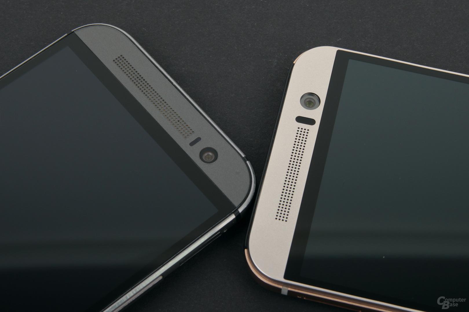 HTC One (M8) (links) und One M9