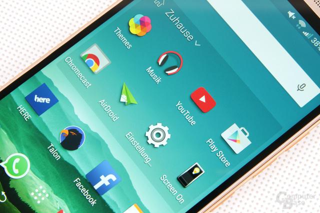 One-M9-Display: Full HD auf fünf Zoll und sehr gute Darstellung