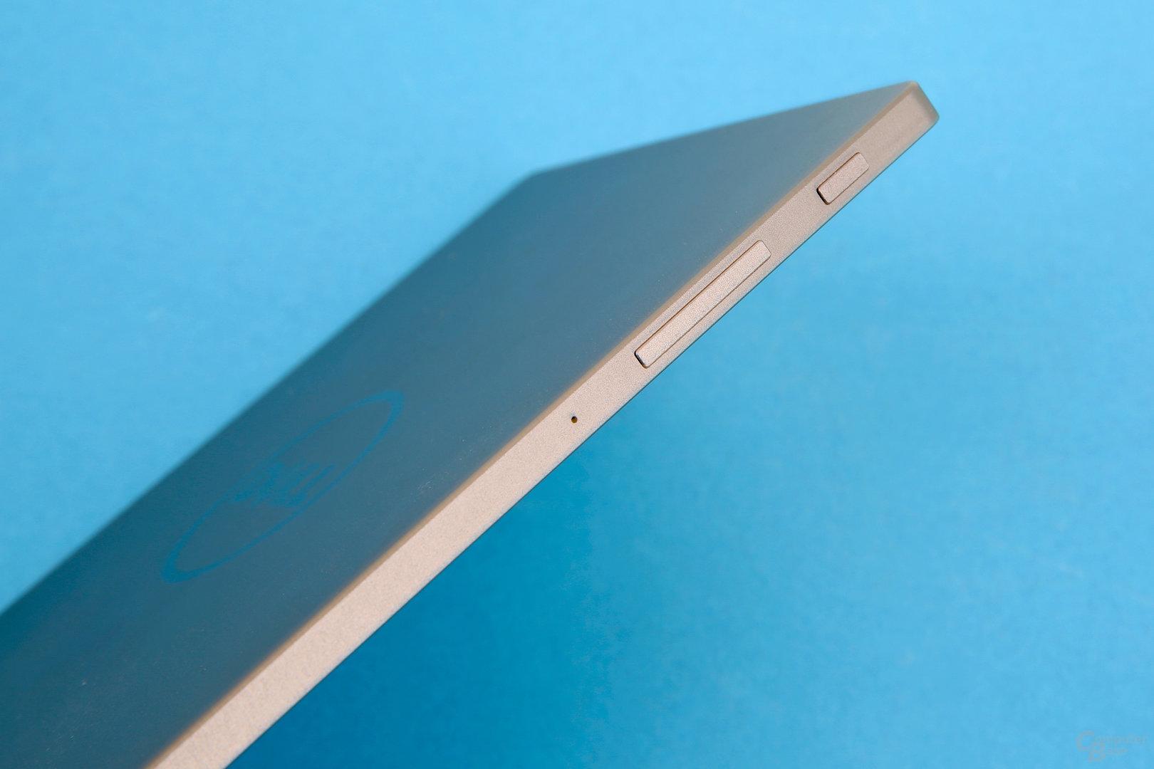 Dell Venue 8 – Haptische Bedienelemente mit festem Druck