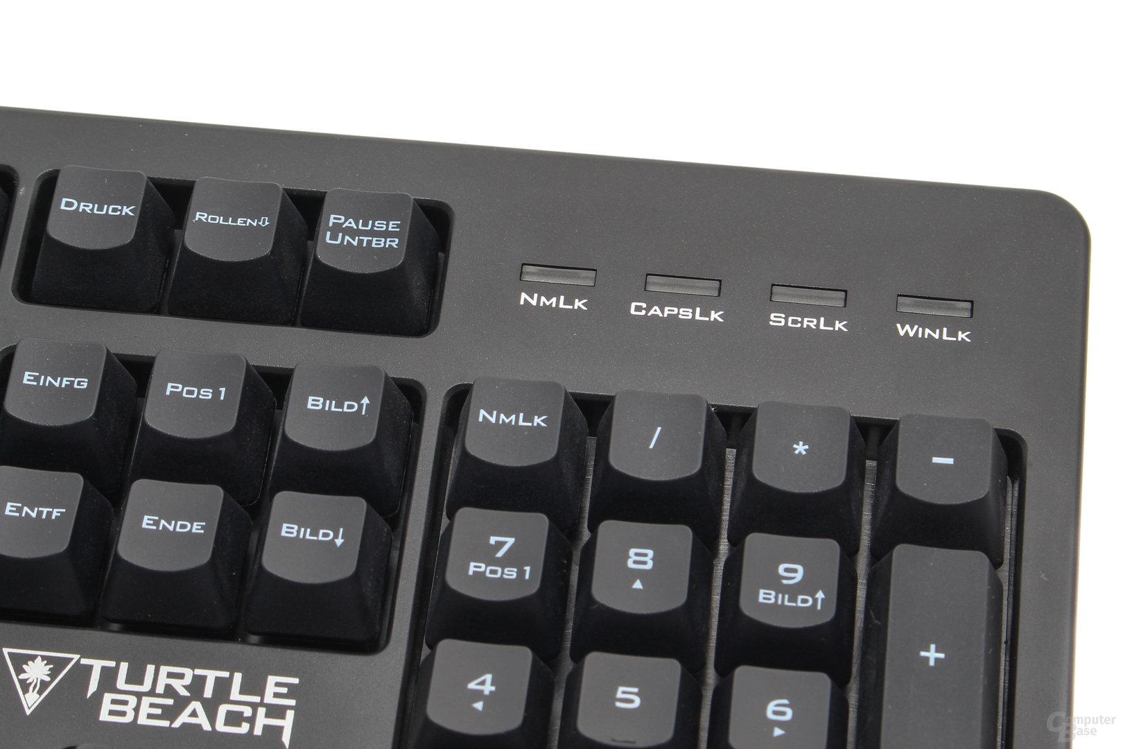 """Die vierte Statusanzeige informiert über den """"Gaming""""-Modus"""