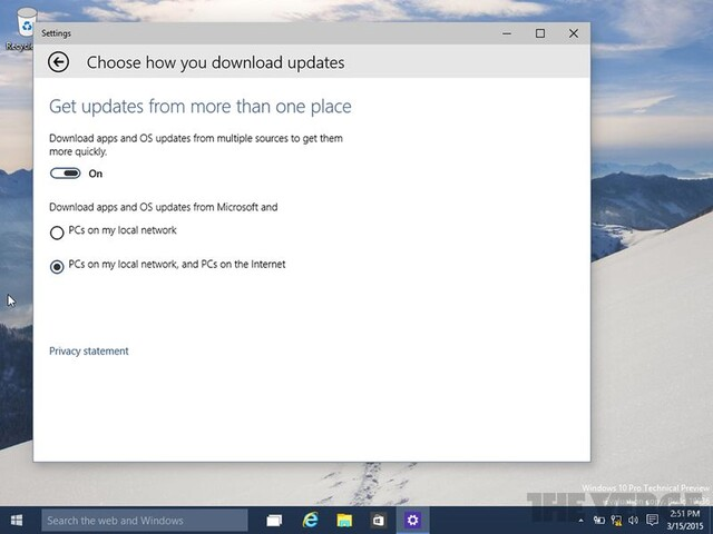 Peer-to-Peer-Updates und Downloads in Windows 10
