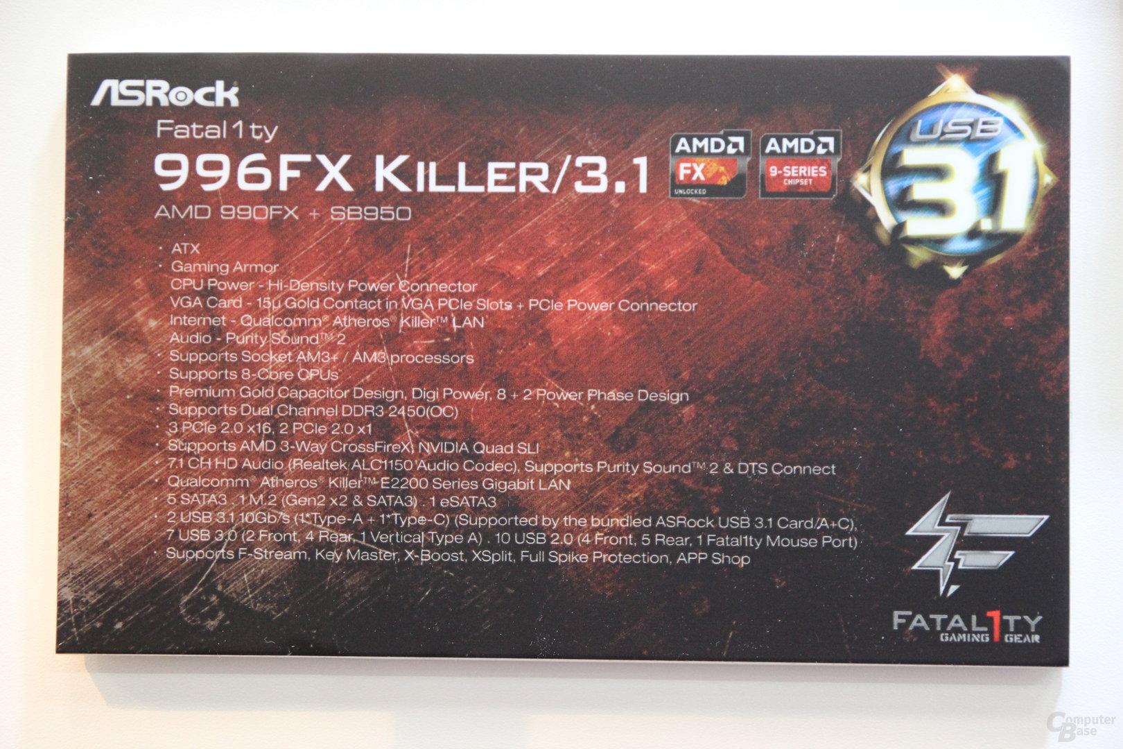 ASRock Fatal1ty 996FX Killer/3.1