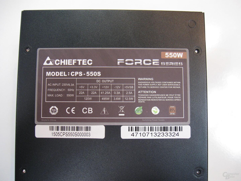 Chieftec Force – Technische Daten