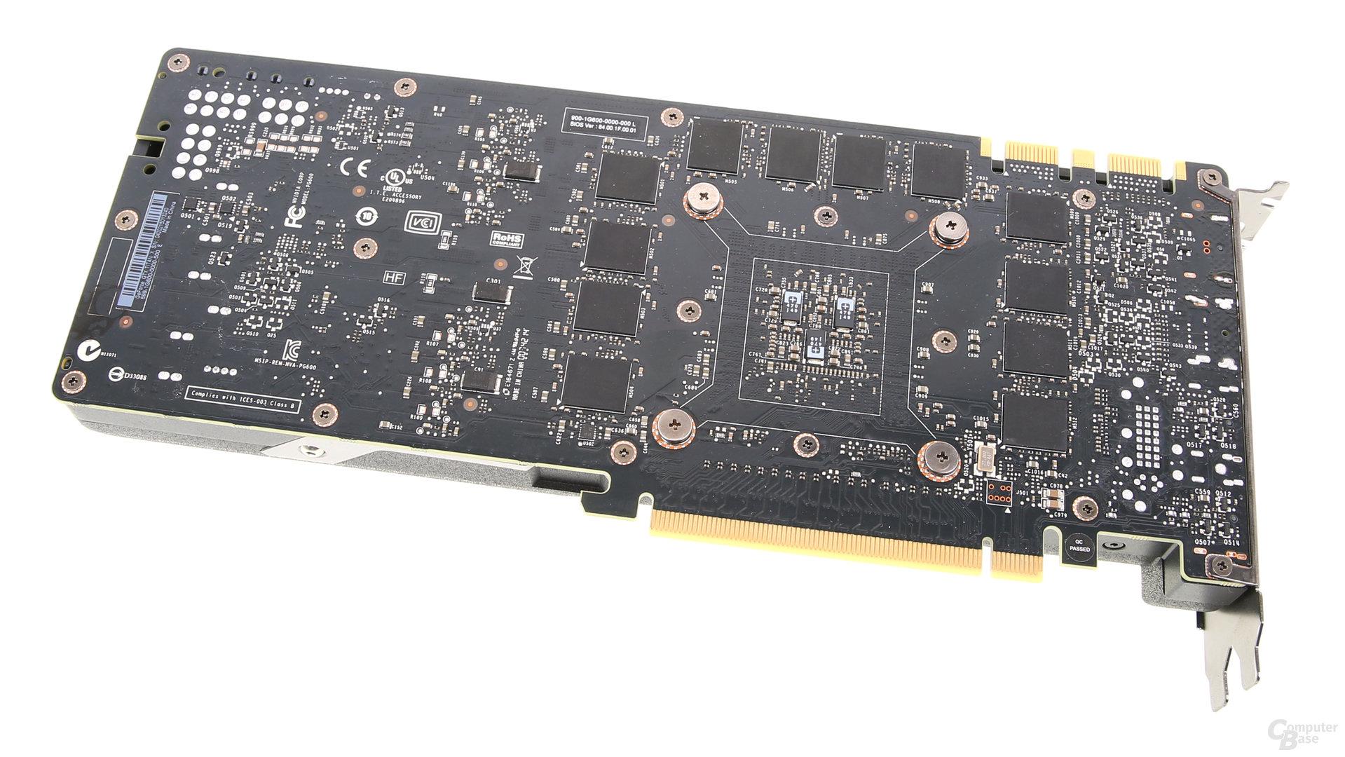 GeForce GTX Titan X - Rückseite