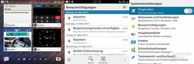 Active Frames|BlackBerry Hub|Einstellungen