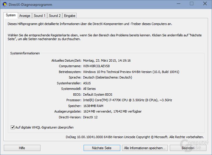 DirectX 12 unter Windows 10