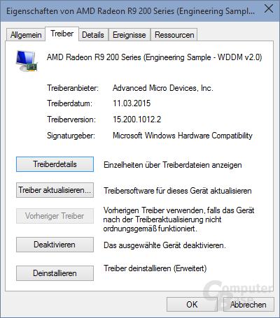 Der AMD-Treiber per Windows-Update