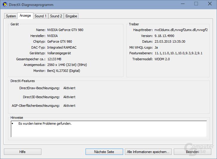 GeForce GTX 980 und die DX Feature-Levels