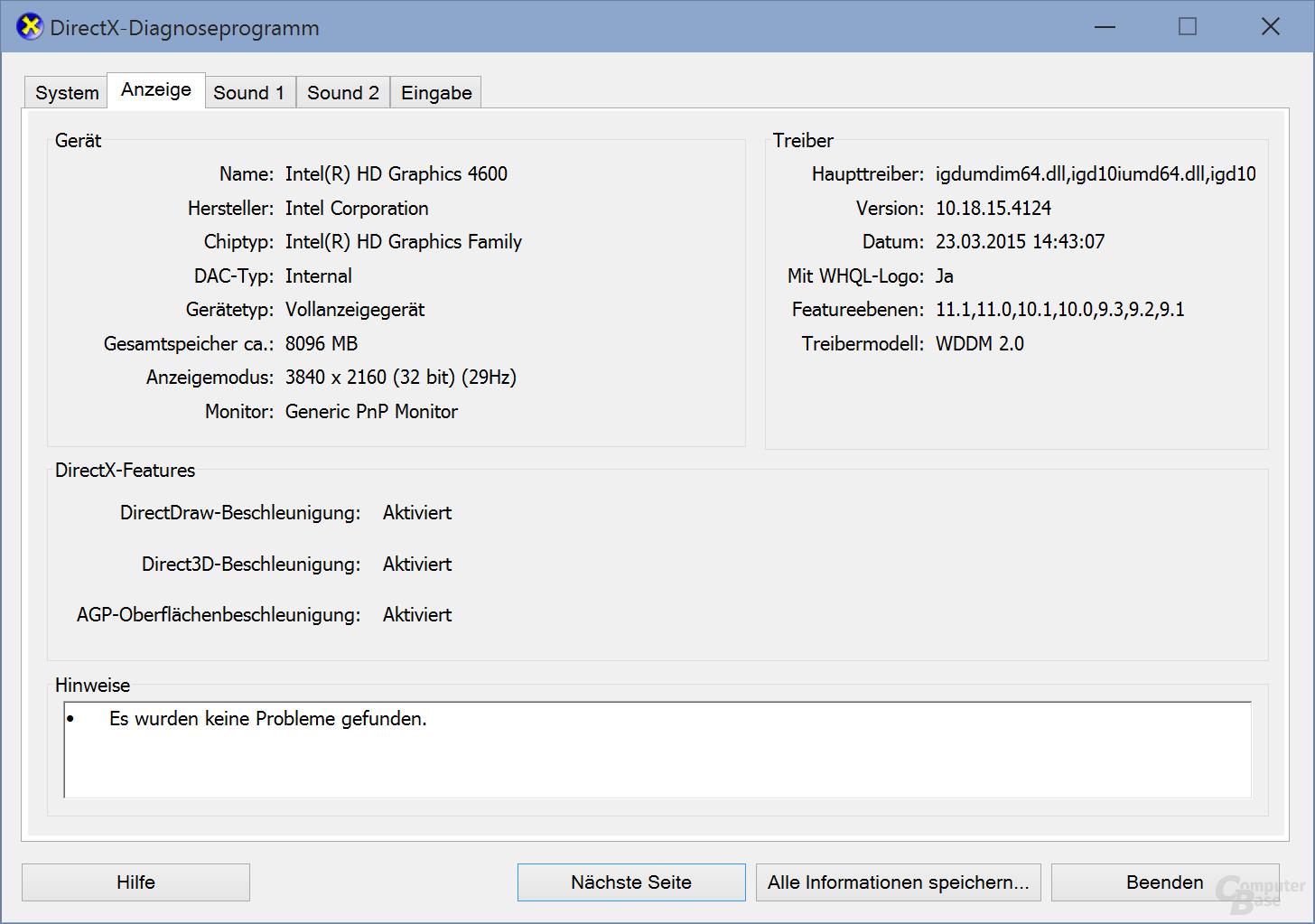 Integrierte Intel-Grafik und die DX Feature-Levels