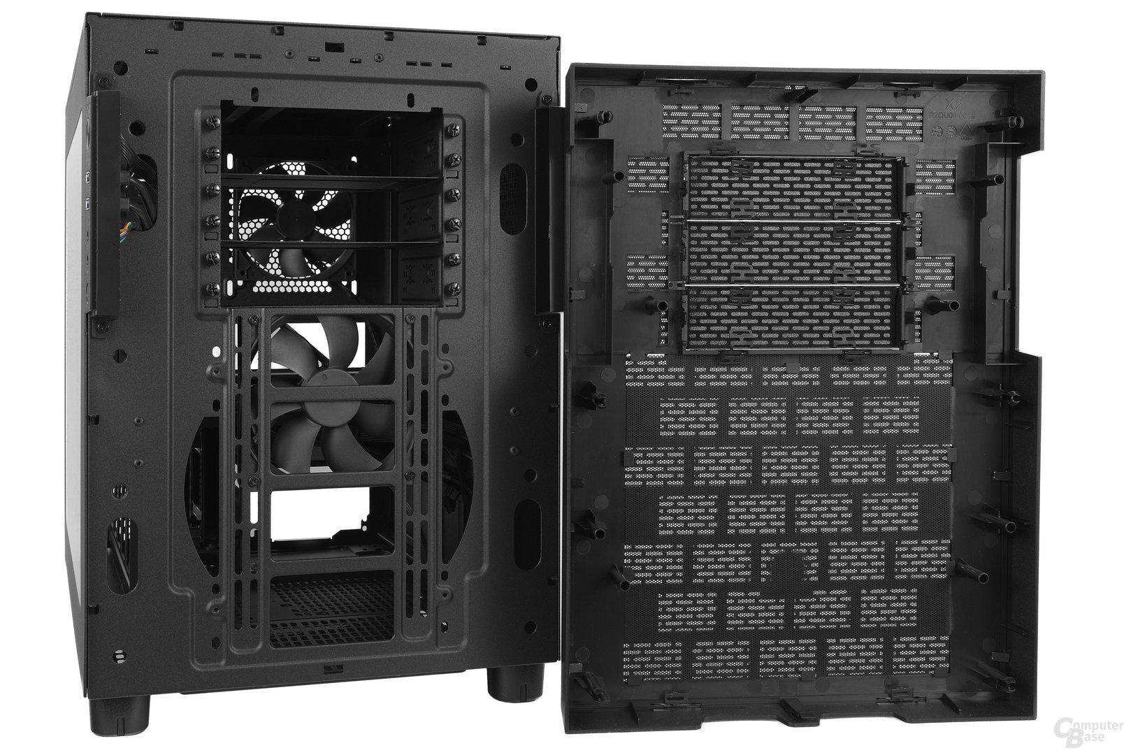 Thermaltake Core X2 – Frontcover demontiert