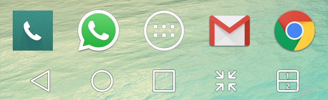 Bis zu fünf Verknüpfungen sind in der Navigationsleiste möglich