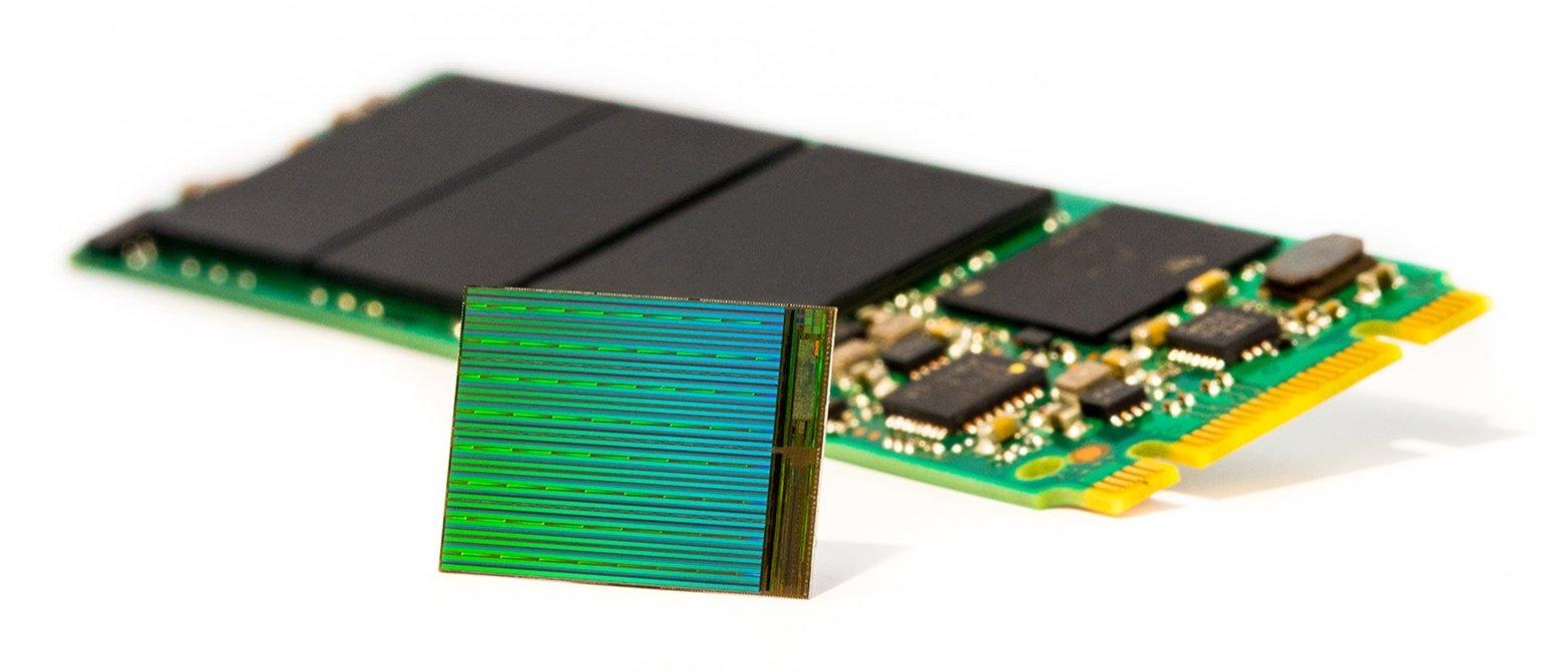 3D-NAND-Die mit M.2-SSD