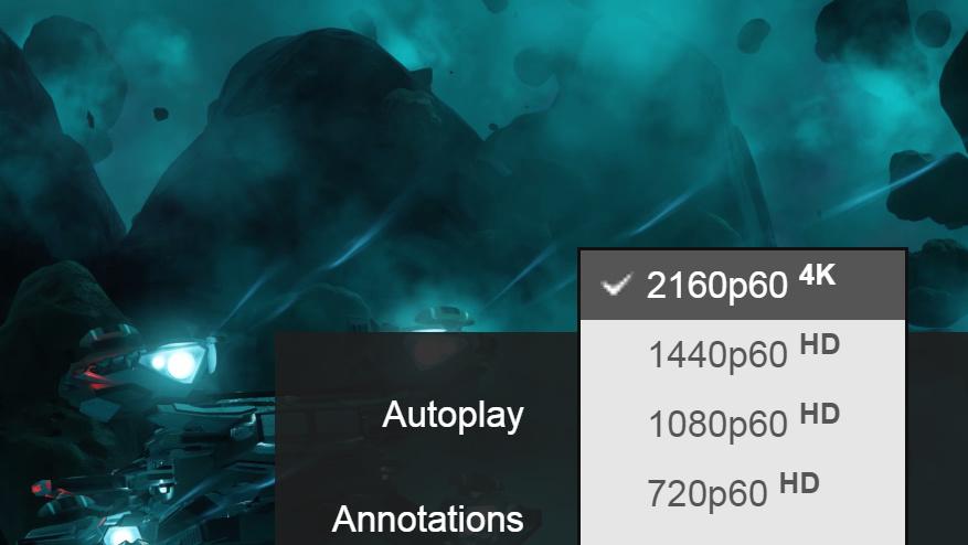 2160p60 4K: YouTube spielt Ultra HD mit bis zu 60 FPS ab