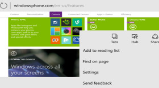 Project Spartan unter Windows 10 Mobile