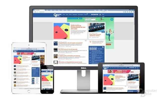 Ein Gesicht von Smartphone bis Desktop