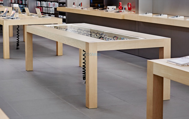 Neue Tische für Auswahl der Apple Watch