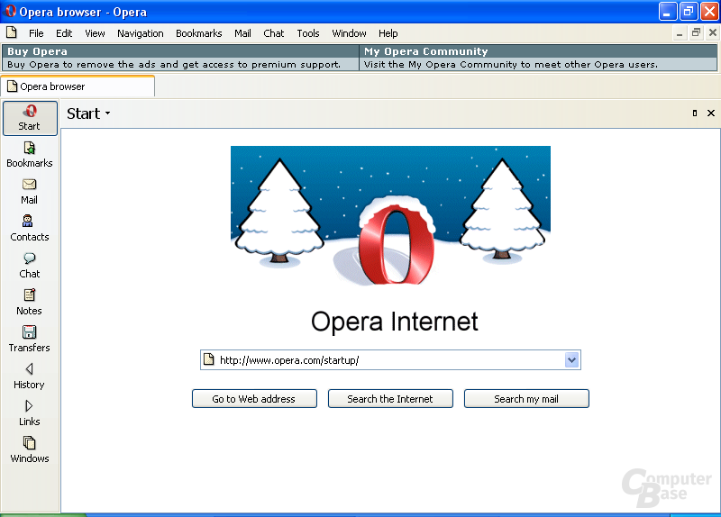 Opera 7.50 Windows Skin