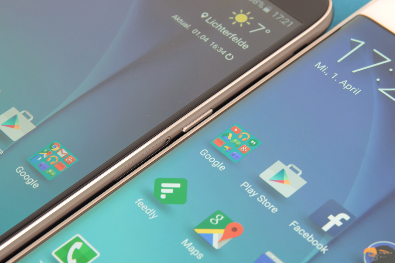 Galaxy S6 neben Galaxy S6 edge