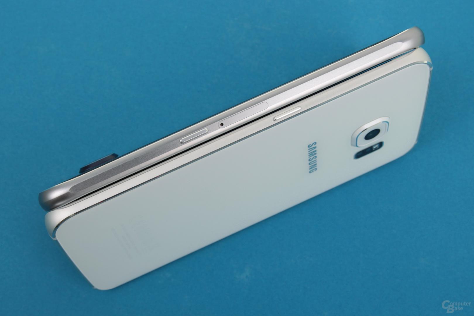 Nur beim Galaxy S6 passt das SIM-Fach in den Rahmen