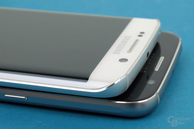 Polierte Fase bei Galaxy S6 und Galaxy S6 edge