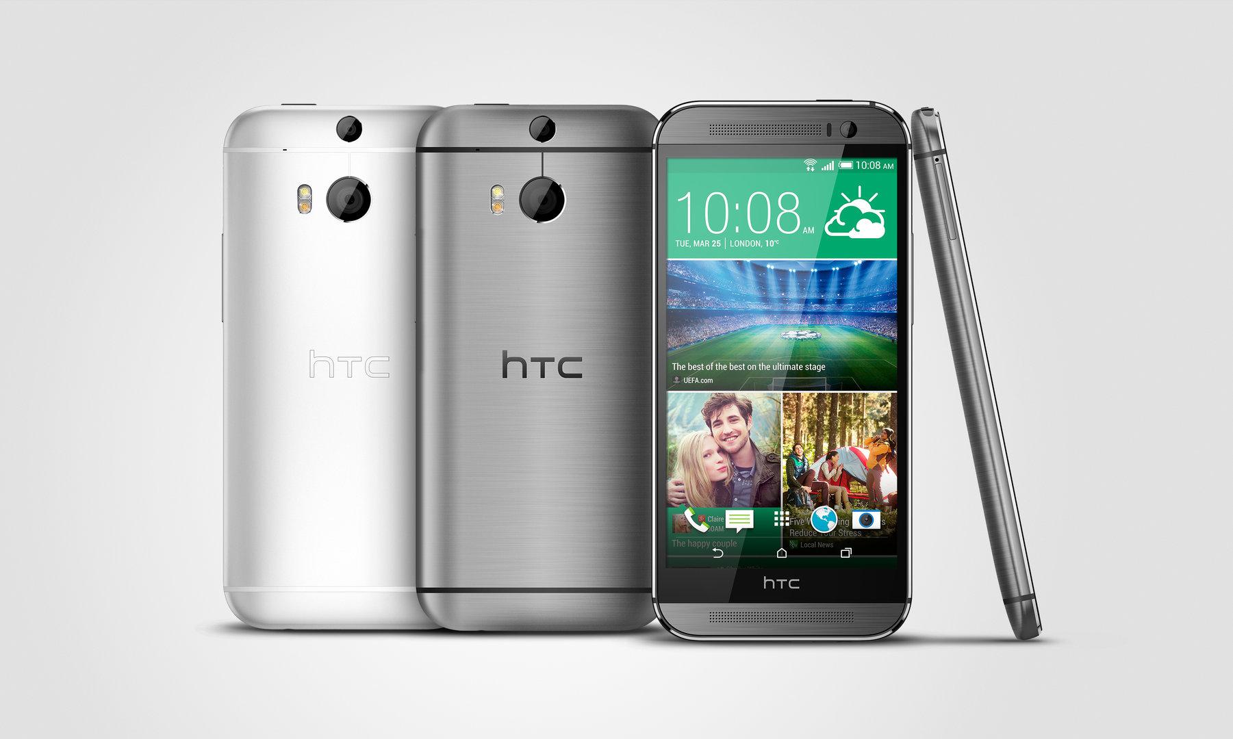 HTC One M8s Silber und Grau