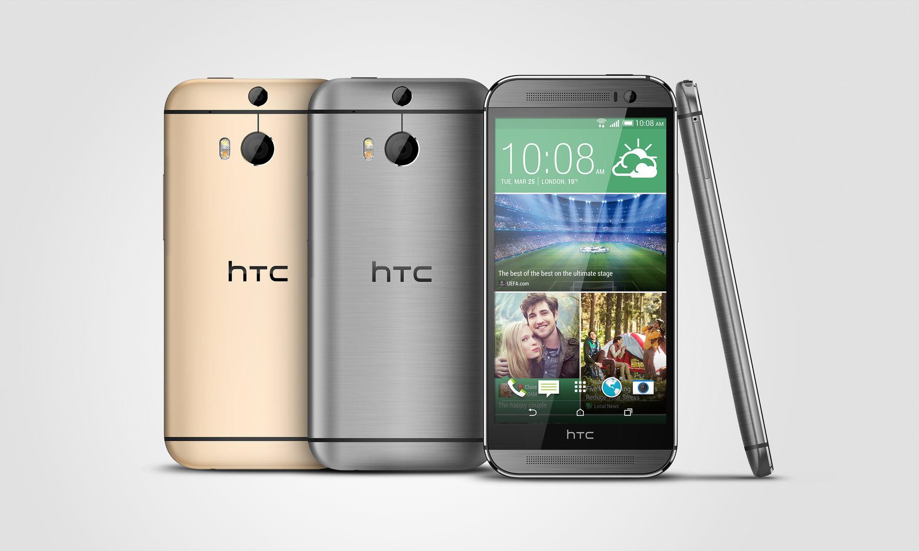 HTC One M8s Gold und Grau