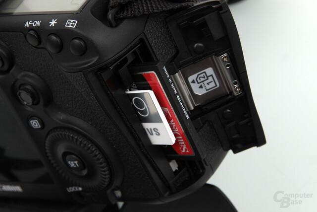 Einige Kameras bieten SD und CF Platz