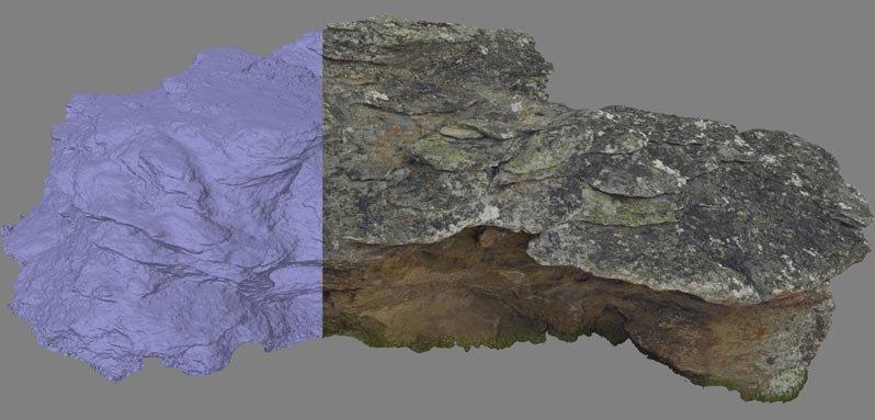 Mit Agisoft Photoscan aus den Fotos erstelltes Objekt