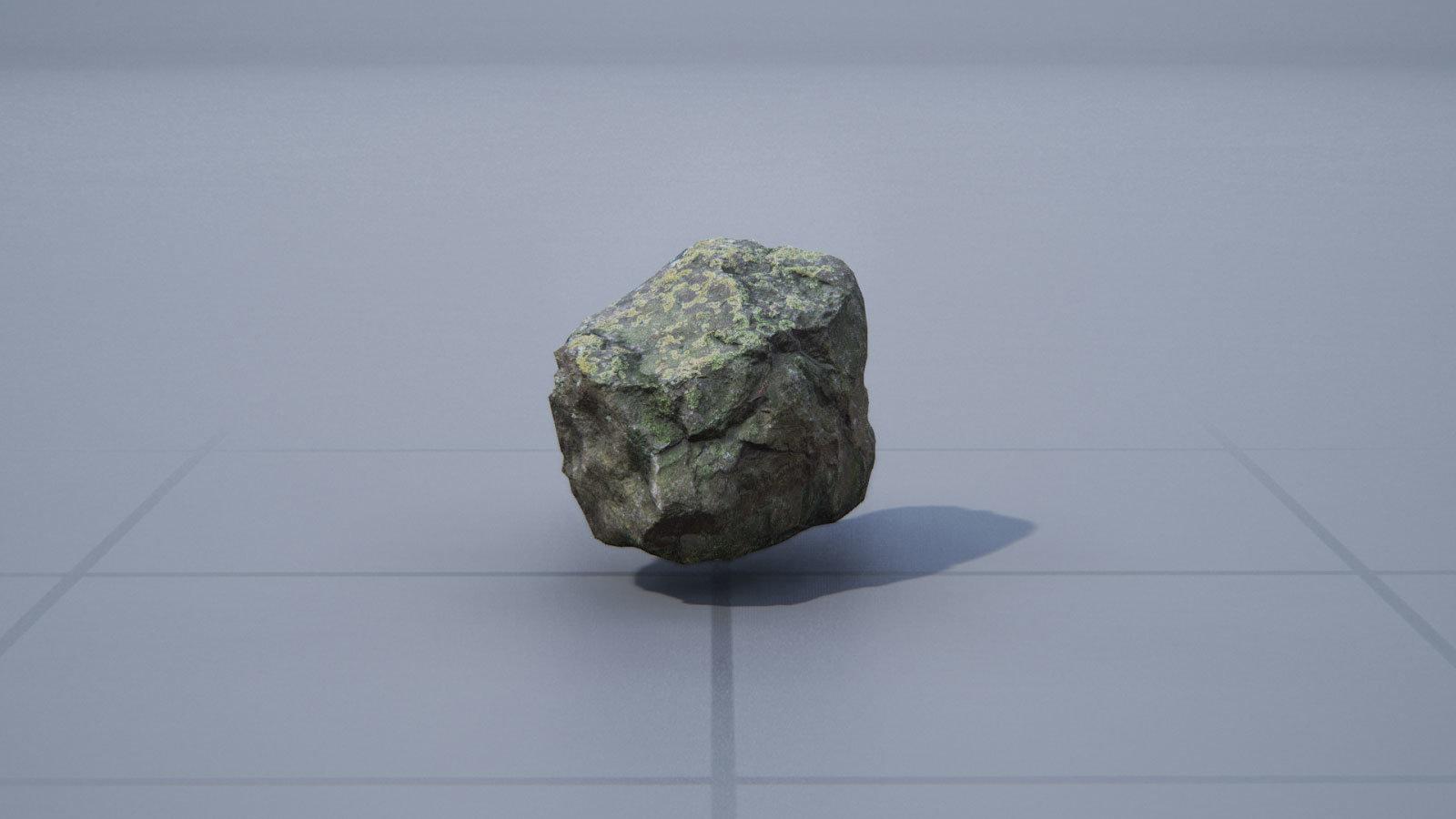 Fertiges Modell eines Felsens